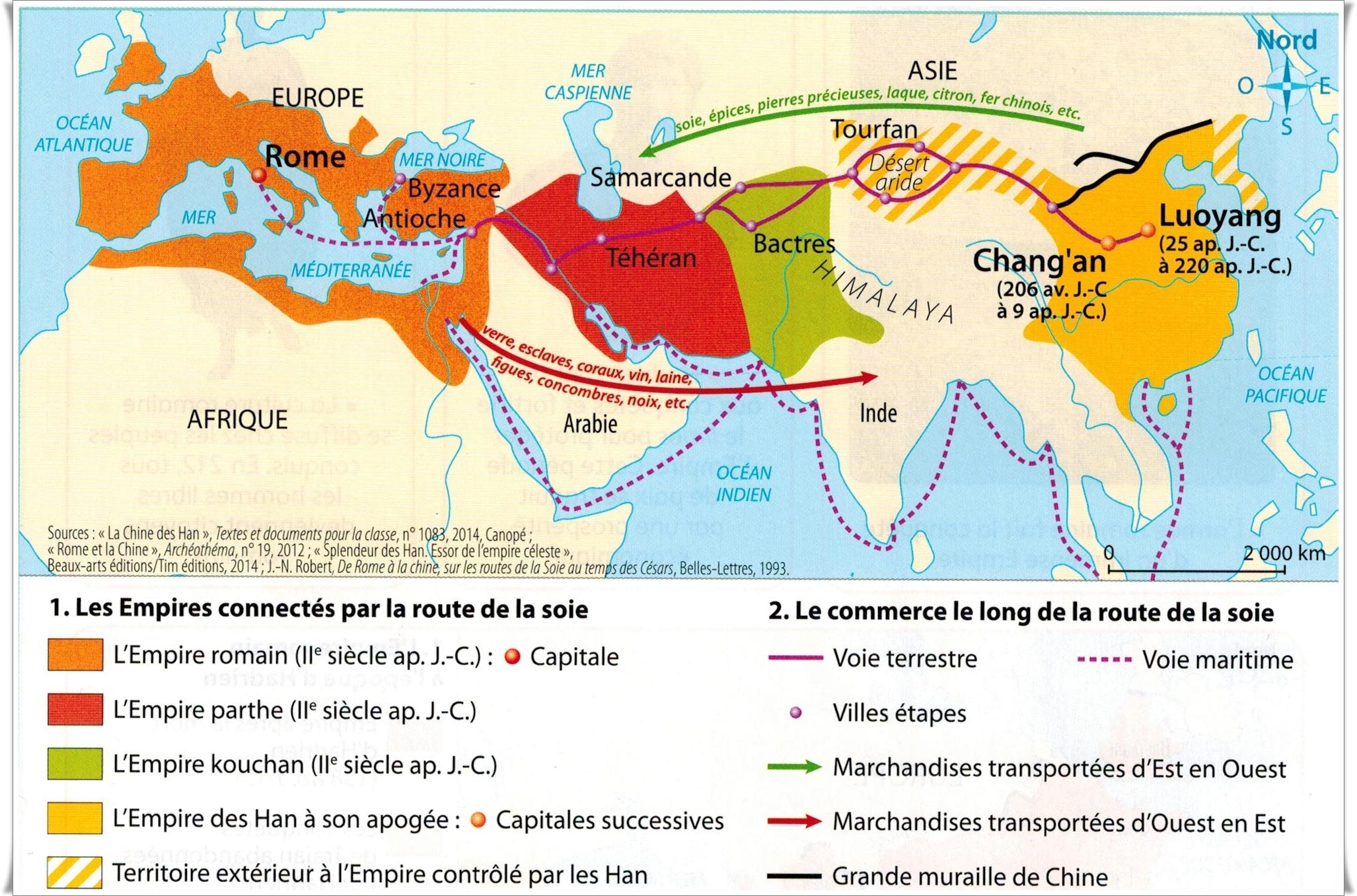 carte route de la soie carte route de la soie – HISTOgraphie