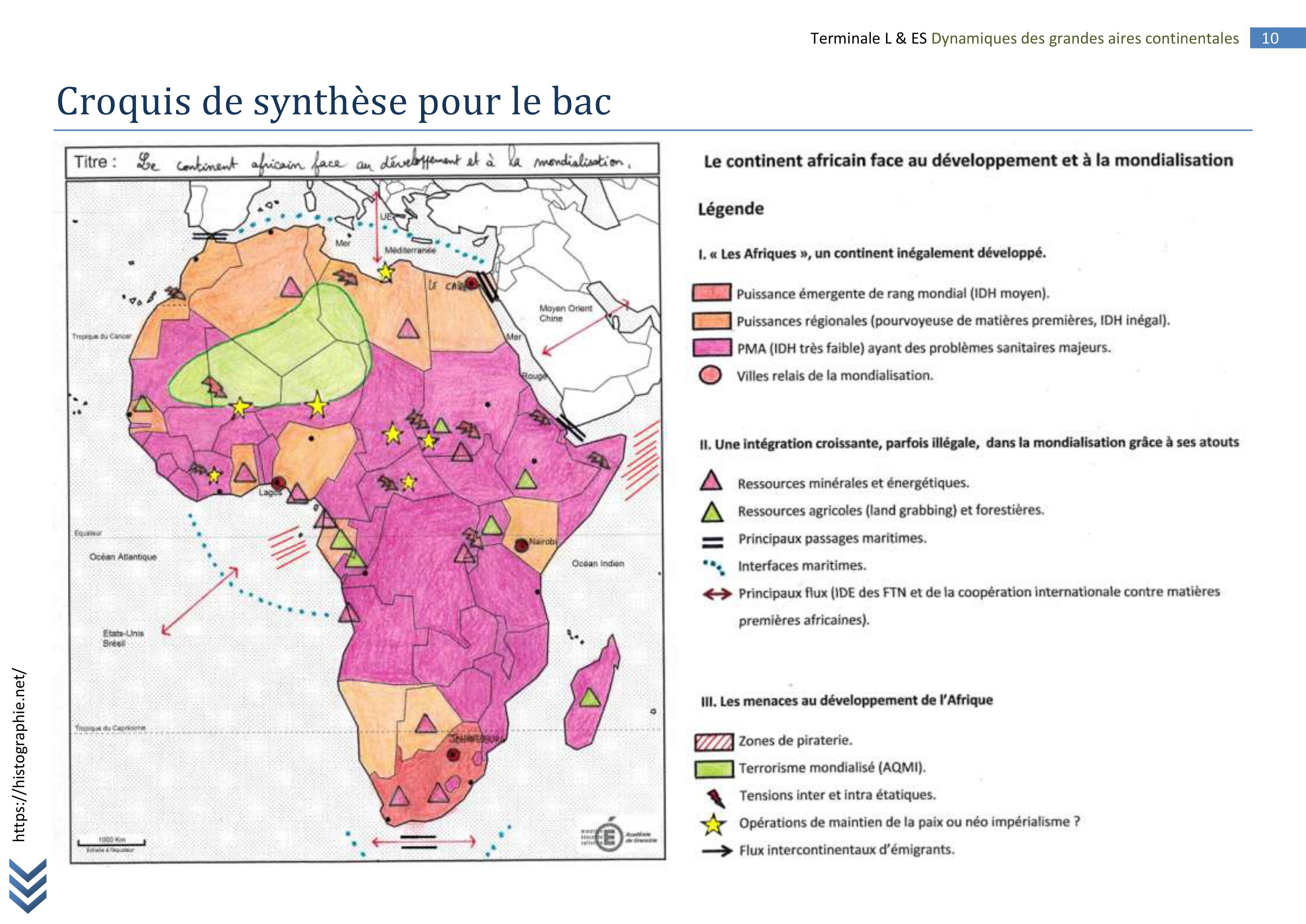 Carte Afrique Terminale Es.Afrique Terminale L Fiche Bac 10 Histographie